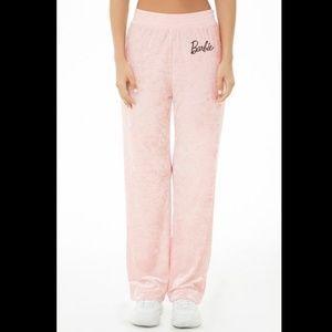 Forever 21 Crushed Velvet Barbie Sweatpants